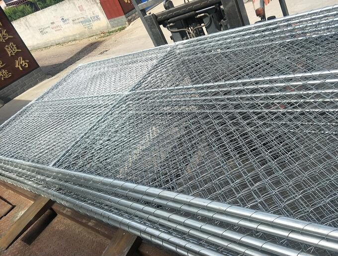 galvanized chain link temporary fence