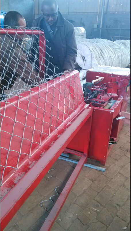 semi-automatic chain link fence machine